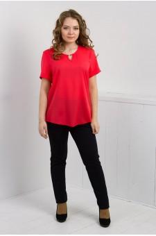 Блуза женская к/рукав  М054-Т Креп розовый
