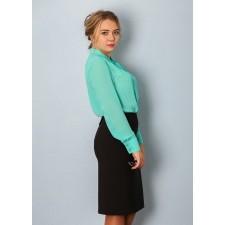 Блуза женская М010-Т Креп бирюза