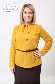 Блуза женская М010-Т Креп горчица