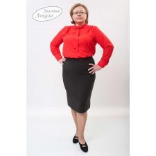 Блуза женская М010-Т Креп красный