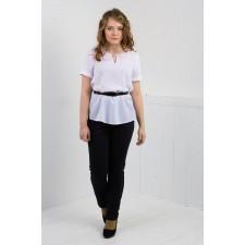 Блуза женская к/рукав М054-Т Креп белый