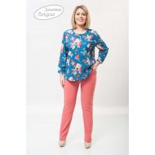 Блуза женская М054-Т Креп цветы