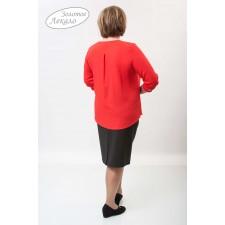 Блуза женская М054-Т Креп красный