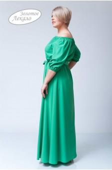 Платье М020-П Хлопок зеленый