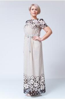 Платье М014-П Креп цветы