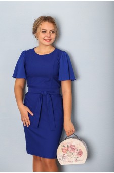 Платье женское М030-Пл Вискоза ярко син.